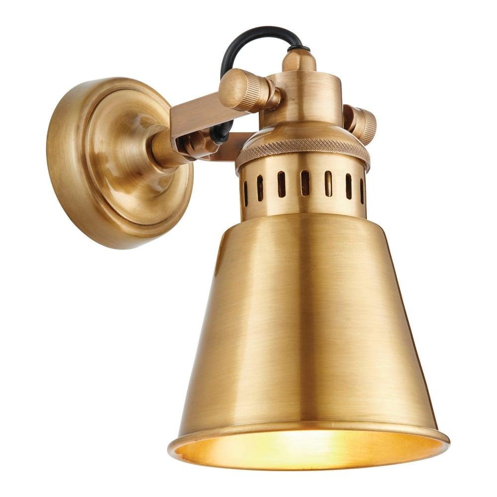 Endon Lighting Elms Antique Brass Wall Light Leader Lights