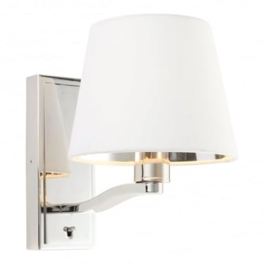 bright indoor wall lights amazon harvey bright nickel 1lt indoor wall light with vintage white faux silk shade 73026 lights
