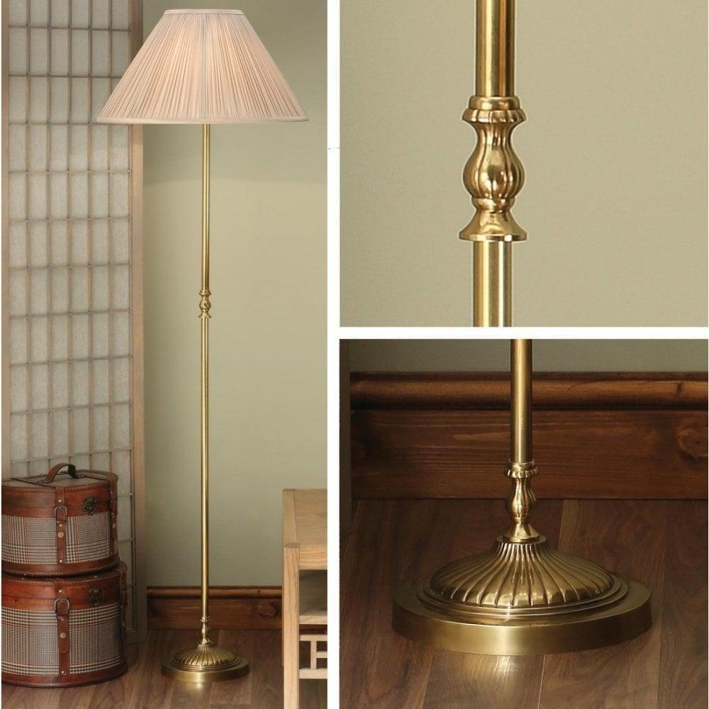 Interiors 1900 Fitzroy Solid Mellow Brass Floor Light Leader Lights
