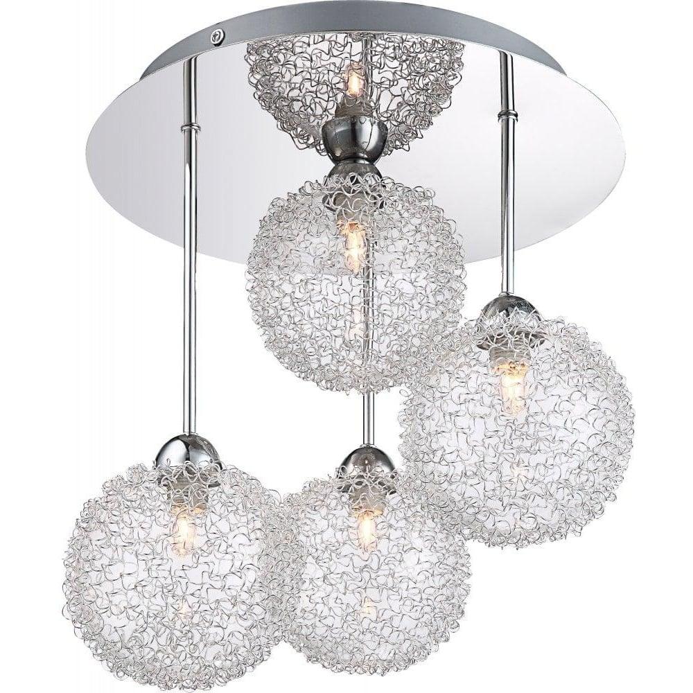 Globo Lighting New Design Aluminium Silver Ceiling Light Leader Lights